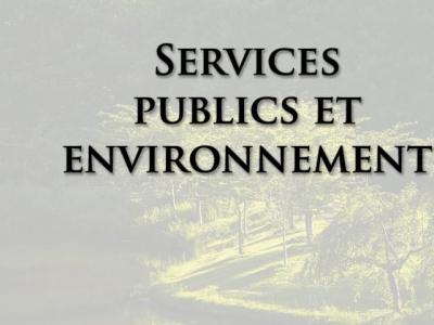 Services publics et environnement